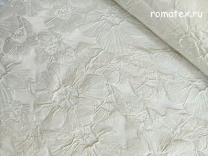 Ткань тафта жаккард белая