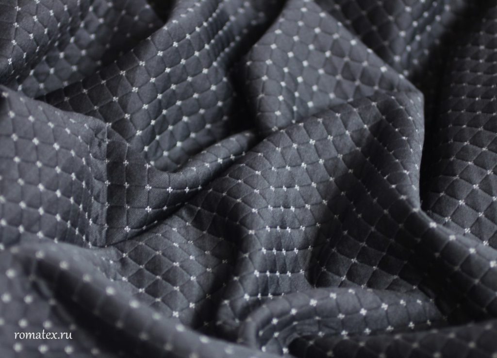 Ткань стежка ромб dt019 цвет чёрный