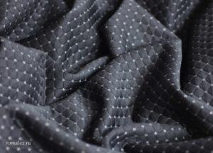 Ткань двухсторонняя стежка ромб dt019 цвет чёрный