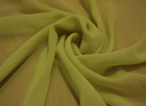 Ткань набивной шифон микровискоза цвет лайм