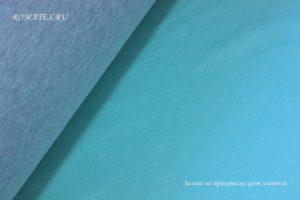 Ткань для одежды искусственная замша на трикотаже мятный