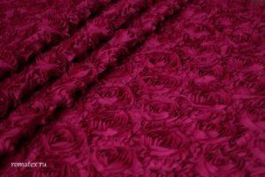 Ткань сетка роза крупная цвет фуксия