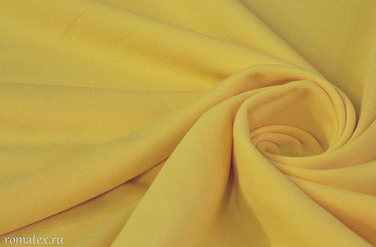 Ткань футер 3-х нитка петля цвет жёлтый