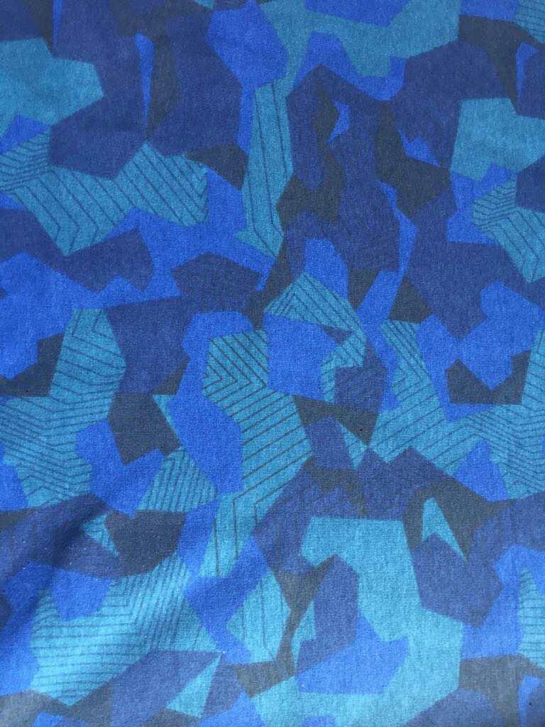 Ткань футер милитари цвет васильковый компакпенье