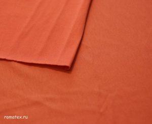 Ткань футер 2-х нитка качество пенье цвет оранж