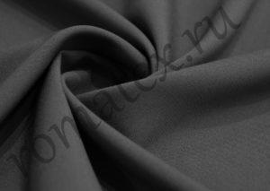 Ткань габардин стрейч цвет тёмно-серый