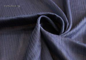 Ткань шелк плиссе тёмно-синий