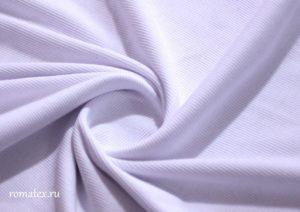 Ткань кашкорсе цвет белый ширина 650