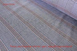 Ткань ткань костюмная клетка цвет серый/коричневый
