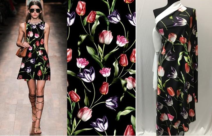 Ткань армани тюльпаны
