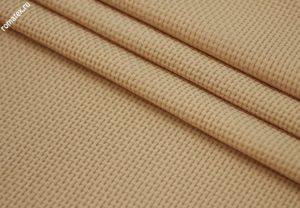 Ткань для пиджака трикотаж жаккард «хасир» цвет светло-бежевый