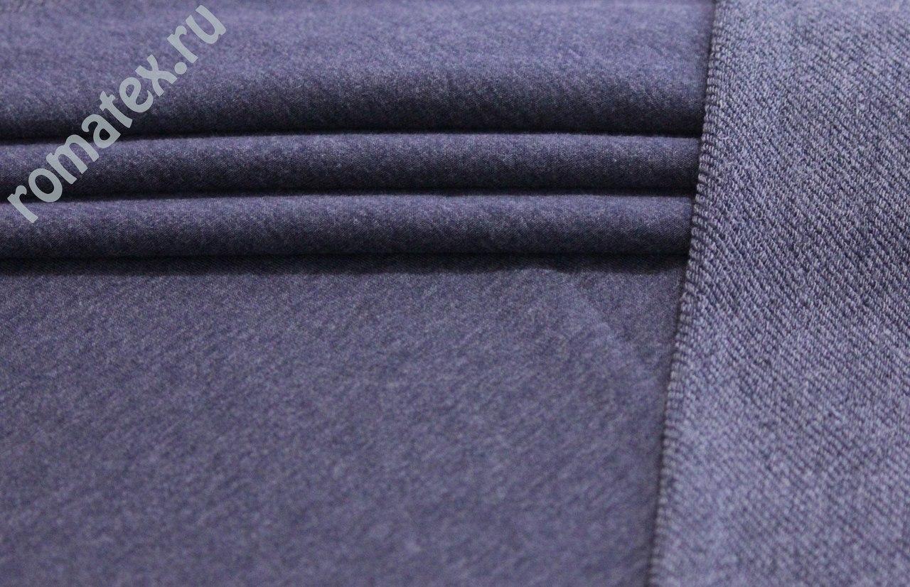 Ткань футер 3-х нитка петля цвет джинс