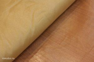 Ткань сетка жесткая цвет золотой