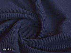 Ткань кашкорсе цвет тёмно-синий