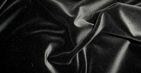Ткань бархат стрейч чёрный