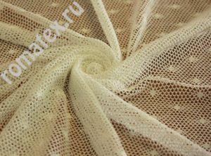 Ткань сетка «ажур» цвет айвори