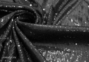 Ткань пайетки цвет чёрный