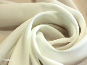 Ткань креп-шифон цвет молочный