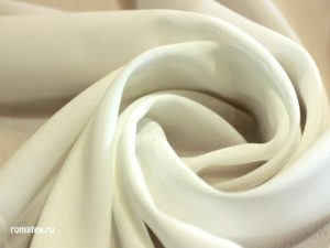 Ткань креп шифон цвет молоко