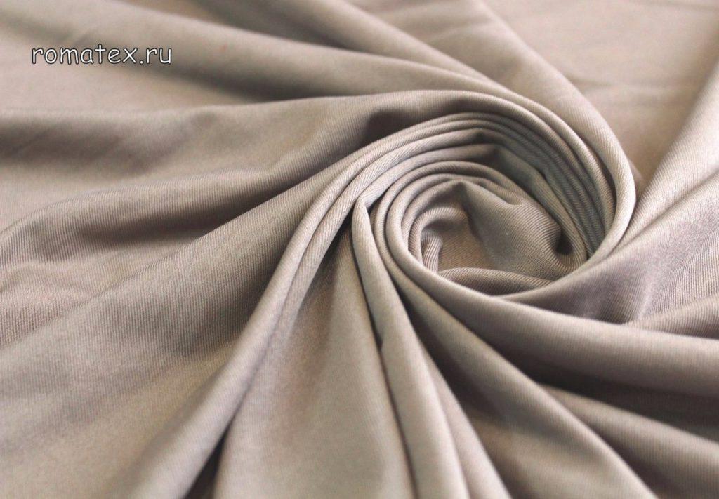 Ткань подкладочная трикотажная серая