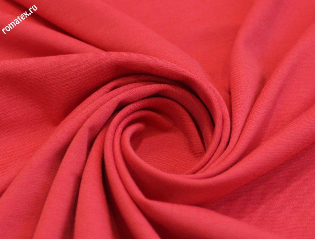 Ткань милано s цвет красно-коралловый