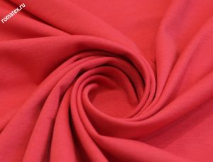 Ткань джерси s цвет красно-коралловый