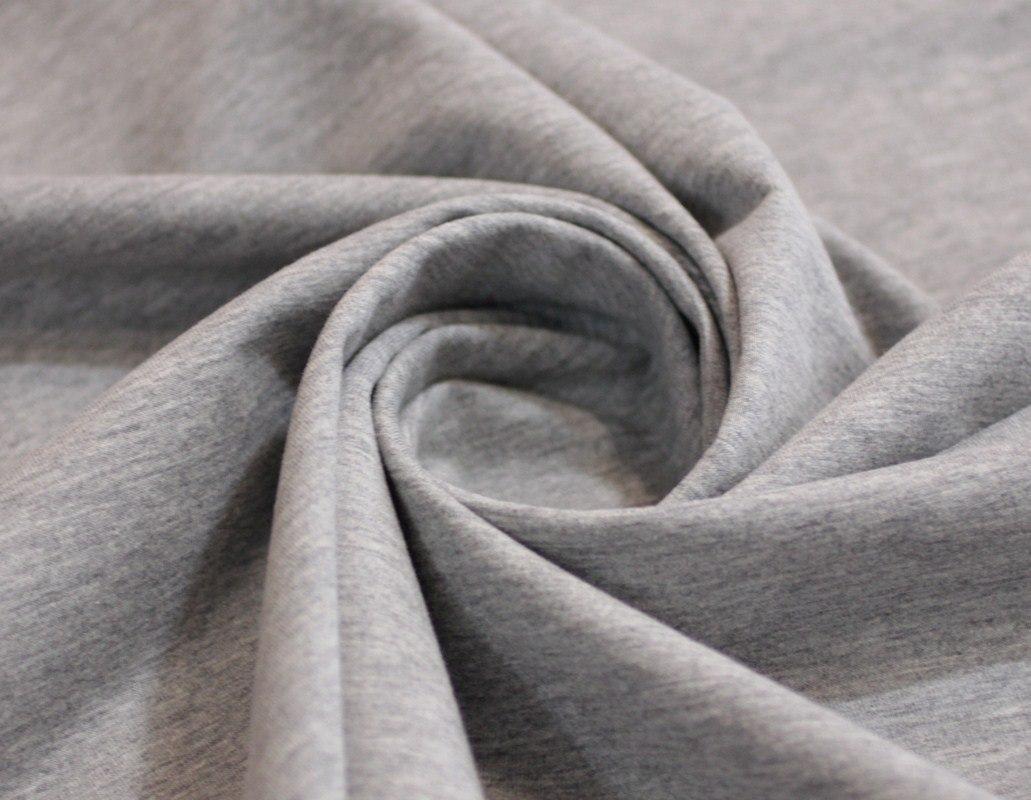 Ткань футер 2-х нитка цвет серый