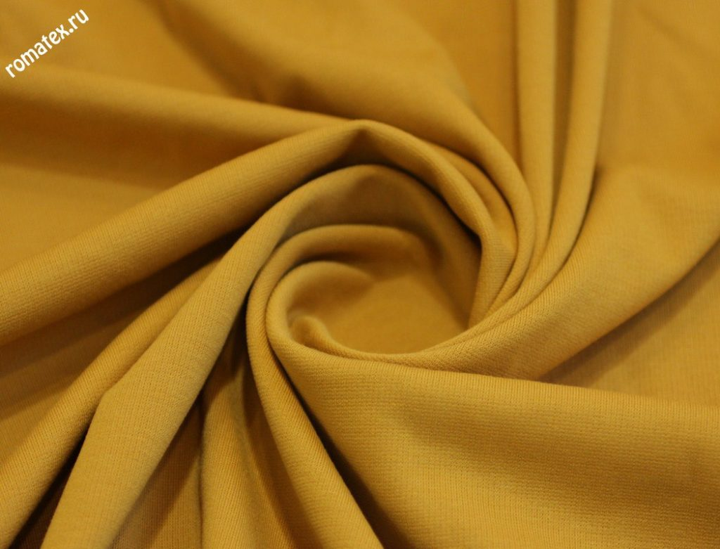 Ткань джерси цвет горчичный