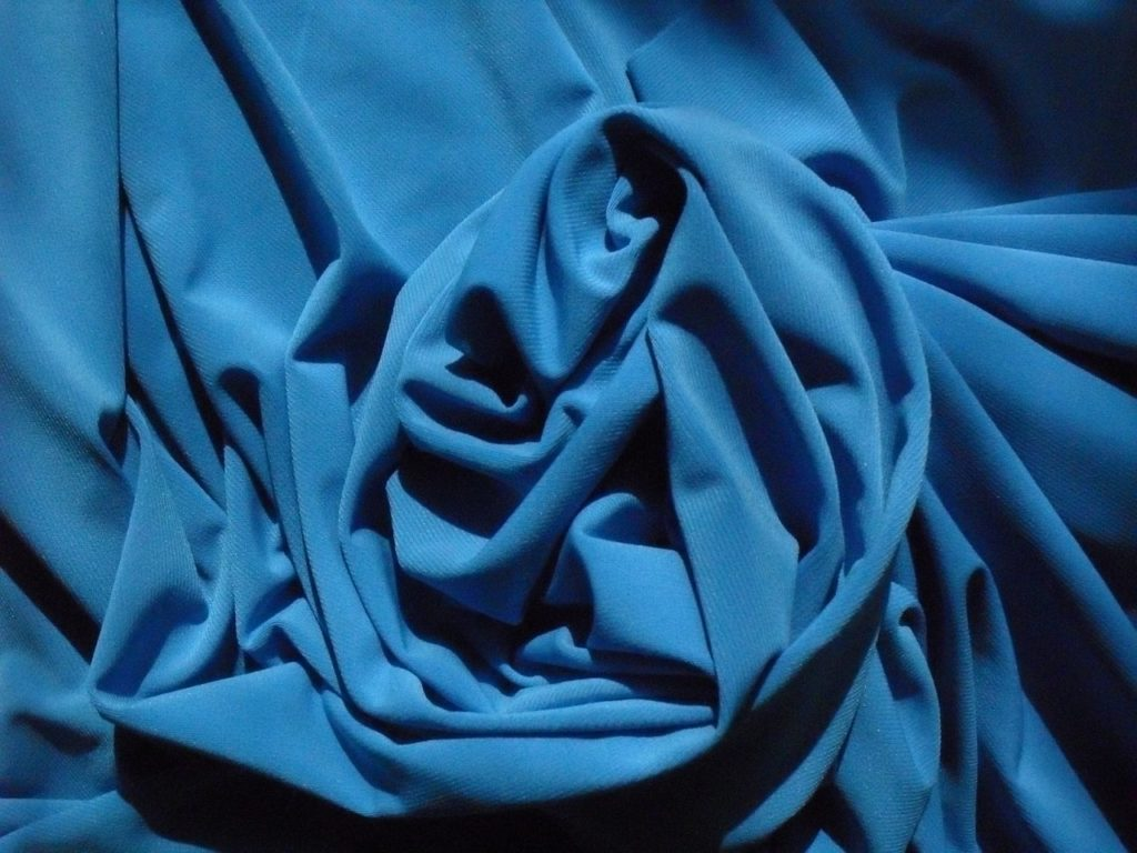 Ткань трикотаж масло голубой