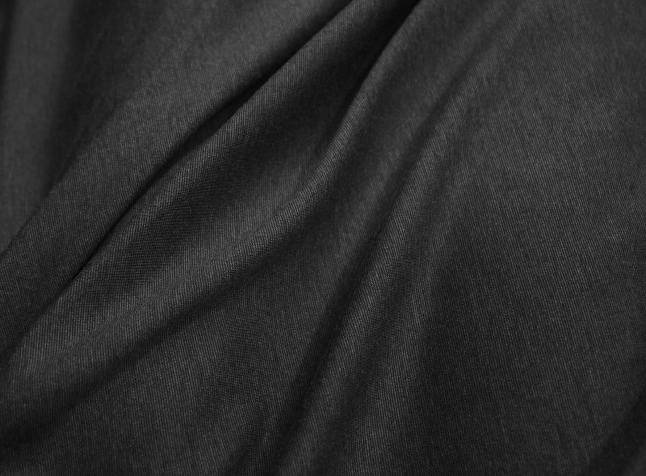 Трикотаж вискоза цвет темно серый меланж