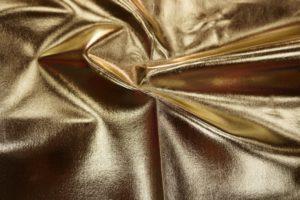Ткань кожзам стрейч цвет золото
