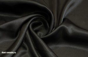 Ткань атлас стрейч цвет черный