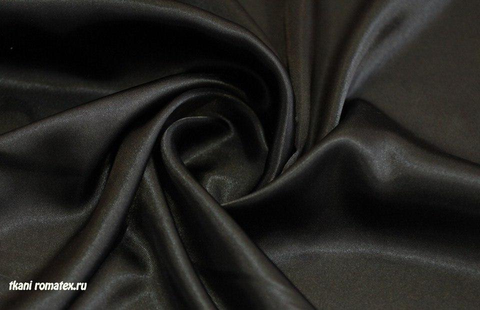 Ткань атлас цвет черный