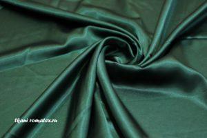 Двусторонняя ткань атлас цвет темно изумрудный
