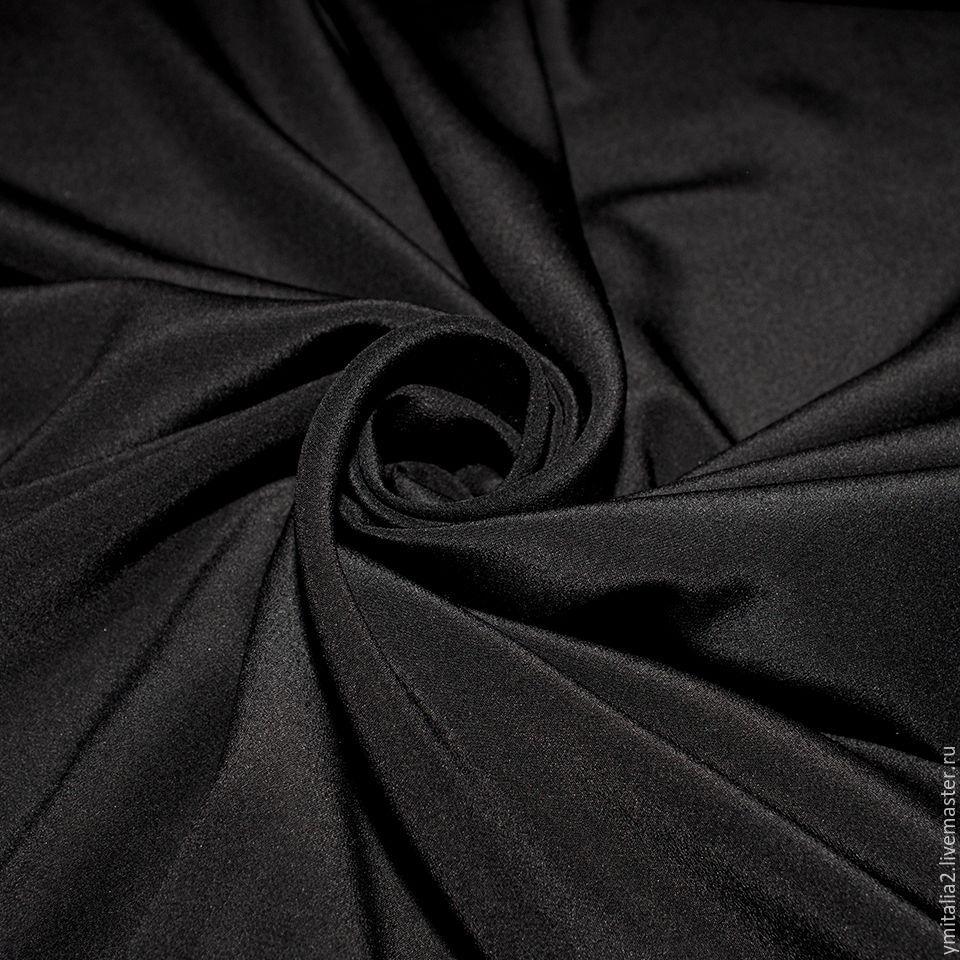 Ткань армани шелк цвет черный