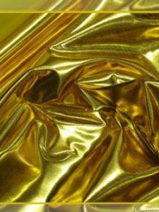 Иск. кожа - ткань кожа лаке цвет золото