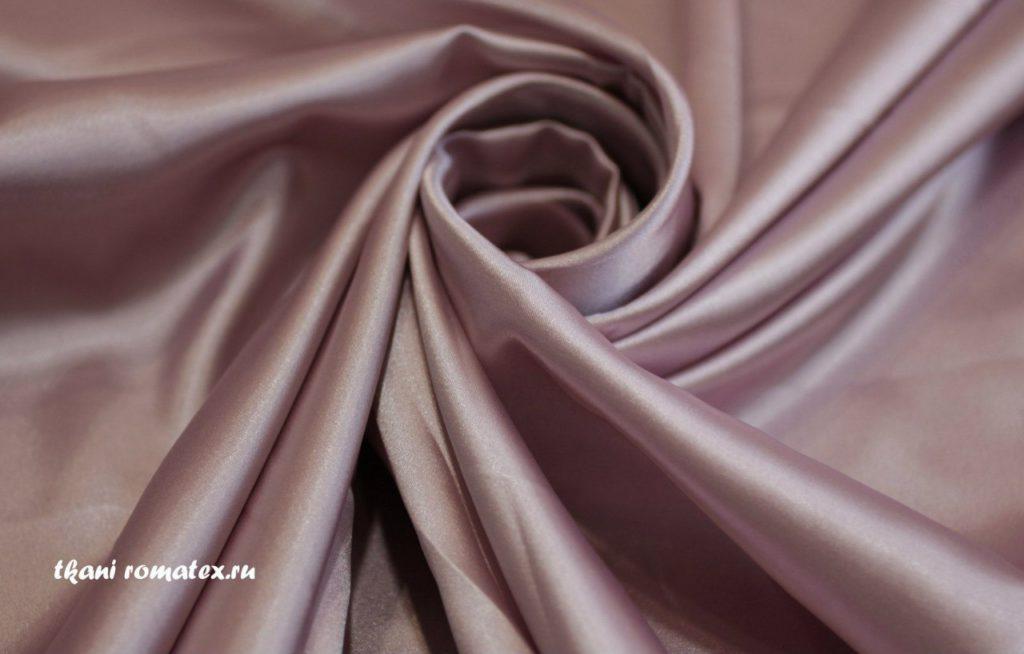 Ткань атлас стрейч цвет пыльная роза