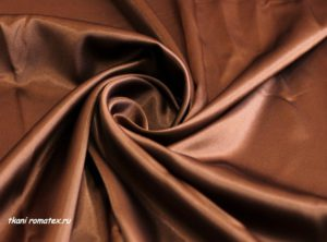 Ткань атлас стрейч цвет коричневый