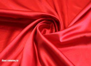 Ткань атлас стрейч цвет алый