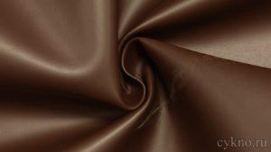 Мебельная ткань  кожзам стрейч цвет шоколад