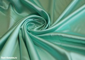 Ткань атлас цвет мятный