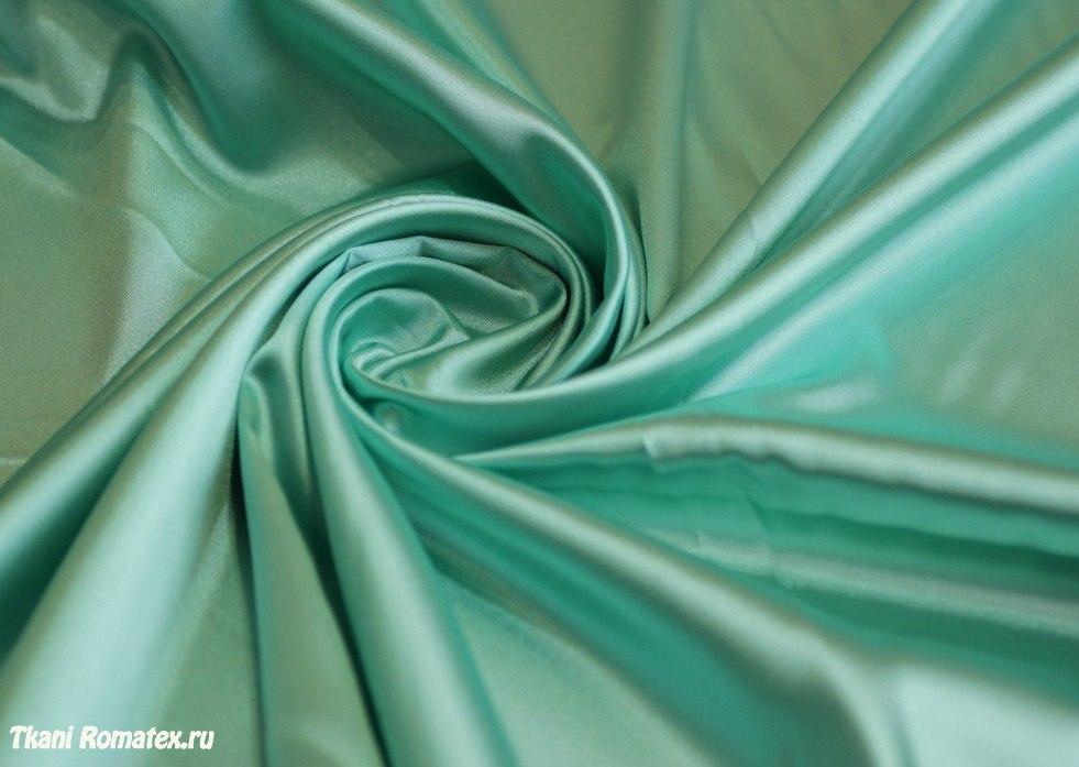 Ткань атлас стрейч цвет мятный