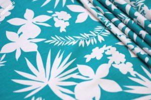 Ткань хомур принт цвет бирюзовый