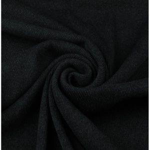 Ткань рибана цвет черный