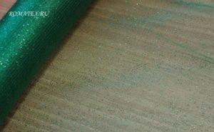 Ткань сетка глиттер цвет зеленый