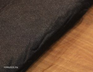 Ткань сетка металлик цвет черный