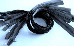 Молния потайная, цв. черный 50 см