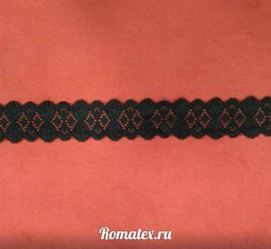 Кружево чёрное 35 мм