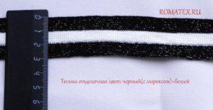 Тесьма отделочная цвет чёрный