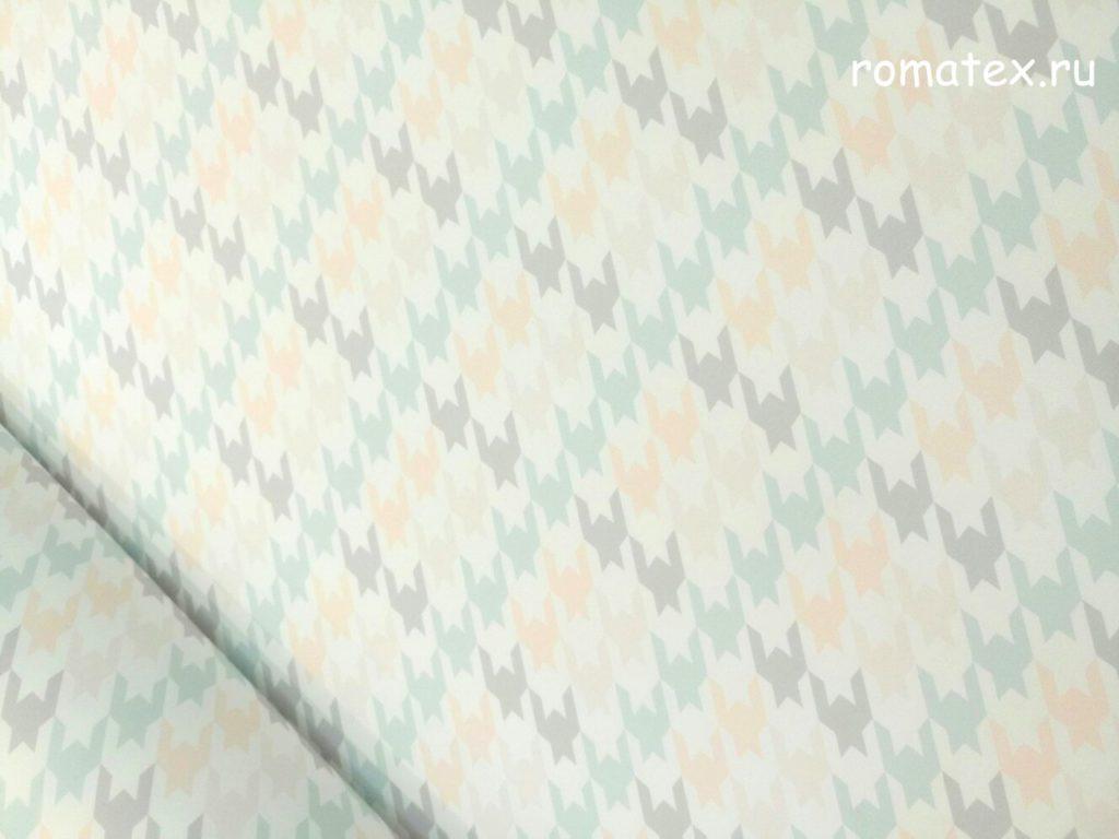 Ткань неопрен «гусиная лапка» цвет белый